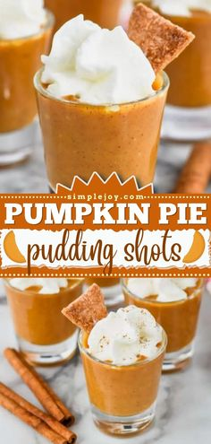 The best Thanksgiving dessert for grown-ups! These pumpkin pie pudding shots with vodka are everything you love about fall food. Plus, this pumpkin recipe is super easy to make and always a hit! Pumpkin Recipes, Fall Recipes, Delicious Desserts, Dessert Recipes, Pudding Shots, Pie, Fall Food, Dishes, Breakfast