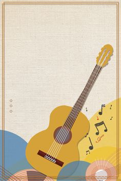 Book Cover Background, Kids Background, Cartoon Background, Music Drawings, Art Drawings For Kids, Guitar Posters, Music Collage, Music Illustration, Instagram Frame