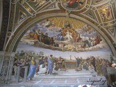 'Disputa' or The Disputation of the Sacrament is a painting by the Italian Renaissance artist Raphael.
