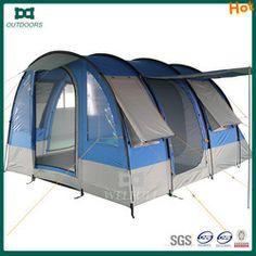 Outdoor 4 people waterproof tunnel camping tent with vestibule