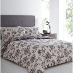 Black Grey floral 'Isabelle' bedding set- at Debenhams Mobile Comforters, Duvet Covers, Pillow Cases, Floral Design, Floral Prints, Colours, Debenhams, Blanket, Pillows