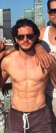 kit harington shirtless: