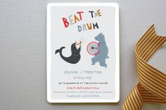 Beat the Drum Baby Shower Invitations by Bonjour Paper at minted.com