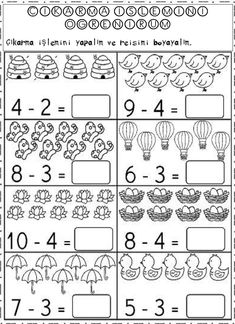 5 Subtraction Worksheets for Kindergarten Kindergarten Math and Literacy Printables April √ Subtraction Worksheets for Kindergarten . 5 Subtraction Worksheets for Kindergarten. Learning Subtraction 1 to 5 Subtraction Kindergarten, Kindergarten Math Worksheets, Preschool Math, Teaching Kindergarten, Math Classroom, Math Activities, Math Math, Math Lessons, Spanish Lessons