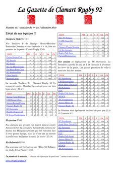 Gazette - 2014-2015 - Fédérale 2 - N° 151