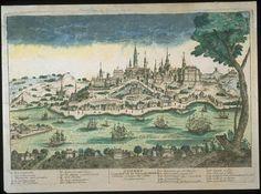QUEBEC Capitale de la Novelle france Évêché Siege de Cour Souveraine1715