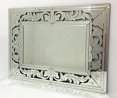 #Espejo Veneciano rectangular, en vertical o horizontal, tamaño 120x90cm,