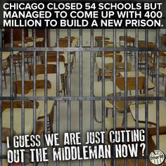 This is why privatizing the prison system is unconscionable. Owners have a vested interest in failure of others and lobby to steal funds from education to line their pockets.