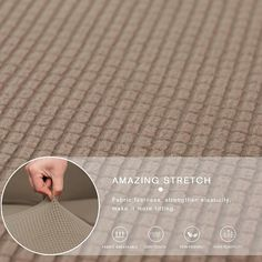 Ebern Designs L-Shaped Right 2 Piece Box Cushion Sofa Slipcover Set & Reviews | Wayfair Sectional Sofa Slipcovers, Sectional Couch Cover, Couch Covers, Cushions On Sofa, Couch Protector, L Shaped Sofa, Box Cushion, Grid Design, Stretch Fabric