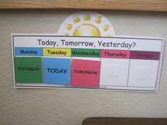 Today, tomorrow,  yesterday