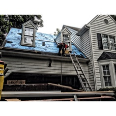 Apex Roof in Progress!  sc 1 st  Pinterest & Roof in progress in Cary NC. We are Scrou0027s Roofing 919-461-0937 ... memphite.com