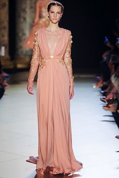 Elie Saab Fall 2012 Couture. Another sexy, yet delicate, floor length gown.