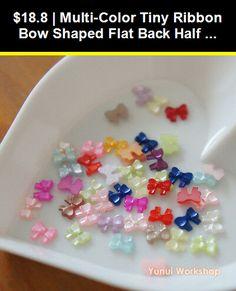 40pcs Dot Ribbon Girl Hat Colorful Resin Flatback  Flat Back Scrapbookiing