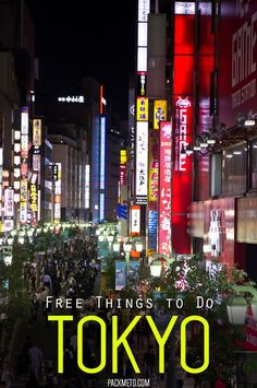Tokyo, Japan doesn't have to drain your wallet. These 7 free things to do in Tokyo will have you exploring the whole city on a dime | via @packmeto