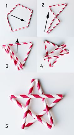 Get the tutorial for these paper straw stars at splashofsomething.com.