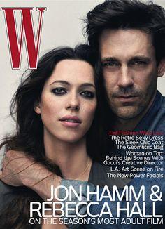 Rebecca Hall and Jon Hamm, August 2010 cover. Photo: Nathaniel Goldberg.