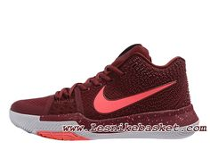Nike Kyrie 3 Team Red 852395 681 Chaussures Officiel Pas cher Pour Homme  Nike Kyrie 3 53a5f045461