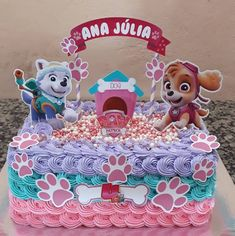 Paw Patrol Sky Cake, Paw Patrol Cake Toppers, Paw Patrol Party, Paw Patrol Birthday Girl, Girl Birthday Themes, Happy Paw, Ideas Party, Party Favors, Decorating Ideas