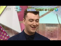 """Sam Smith sings """"Stay With Me"""" and interview on Japanese tv. (Feb 2015)"""
