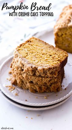 This Easy Pumpkin Bread recipe with a crumb cake topping (brown sugar streusel) is so moist! It's made entirely from scratch (no cake mix!) and is full of pumpkin flavor and pumpkin spices. Starbucks Pumpkin Bread, Pumpkin Coffee Cakes, Sugar Pumpkin, Pumpkin Dessert, Pumpkin Spice, Pumpkin Rolls, Pumpkin Recipes, Cookie Recipes, Dessert Recipes