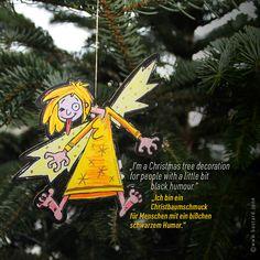 Ein kleiner, frecher Schutzengel möchte dich begleiten. Guardian GERTI wertet als Geschenkanhänger jedes Geschenk auf, dekoriert dein Zuhause, fährt als Schutzengel im Auto mit, schmückt deinen Christbaum, beschützt dich auf Reisen und vieles mehr … #schutzengel #geschenkanhänger #christbaumschmuck Passion, Christmas Ornaments, Holiday Decor, Guardian Angels, Black People Humor, Christmas Tree Decorations, Decorating, Ad Home, Viajes
