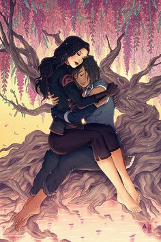 ✨✨✨ Special Korrasami collaboration print with @jenbartel available at Rose City Comic Con (Portland, OR) next week! ✨✨✨ If there are any left over after the con, we'll throw 'em up for sale on Jen's...