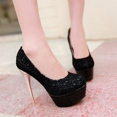 Womens Charming Lace Pump High Heels