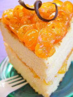 Kumquat chiffon cake, use gluten free cake mix.