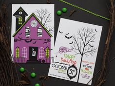 Haunted House Halloween Party Invitations | Design and Photo Credits: Wants and Wishes