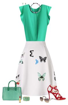 Butterflies by julietajj on Polyvore featuring polyvore fashion style Roland Mouret Gianvito Rossi VBH Larkspur & Hawk Forever 21 Swarovski Isaac Mizrahi clothing