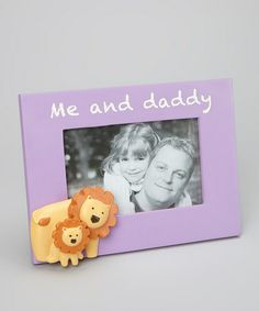 Look what I found on #zulily! Grasslands Road 'Me and Daddy' Frame #zulilyfinds #GrasslandsRoad #Resin #Glass #Photo #Picture #Stand #Hang #Lion #GiftBoxed #GiftIdea #Baby #Girl #Child #lavender #Purple