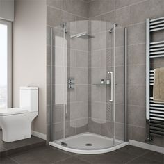 Add a modern touch to your bathroom with a Quadrant Shower Enclosure. Shop our vast range of Corner Shower Enclosures from Victorian Plumbing today. Quadrant Shower Enclosures, Walk In Shower Enclosures, Frameless Shower Enclosures, Bathroom Layout, Bathroom Interior, Small Bathroom, Modern Bathrooms, Bathroom Ideas, Shower Cubicles