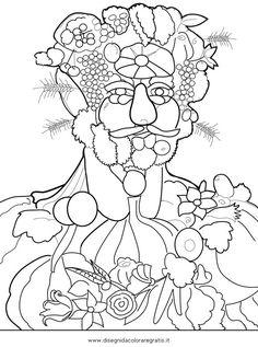 Giuseppe Arcimboldo Coloring Page Sketch Coloring Page Giuseppe Arcimboldo, Club D'art, Art Club, Documents D'art, Pop Art, Classe D'art, Art Handouts, 4th Grade Art, Art Worksheets