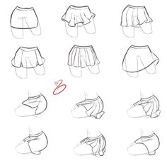 How to draw skirts.