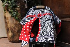 baby carseat cover- idea for peeking in