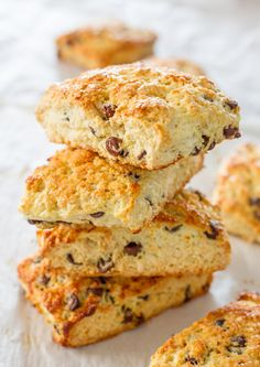Chocolate Coconut Almond Scones - Jo Cooks substitute GF flour