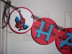 Spiderman Happy Birthday Banner by mimskd on Etsy, $24.00