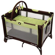 Graco - On the Go Pack 'n Play Portable Playard, Go Green