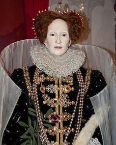 Madame Tussaud's wax Figure of Queen Elizabeth I (1533-1603).