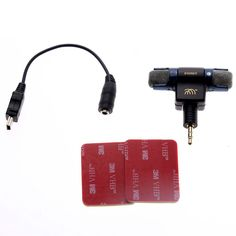 STEREO  Stereo Mic Microphone with 3.5mm to mini USB Micro Adapter Cable for GoPro Hero 3 3+ 4 AEE Sporting Cameras