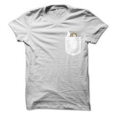Awesome Tee Cat In Pocket T shirts