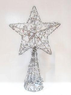 Estrella plateada para punta de árbol #Navidad #Decoracion #Regalo #Deconline