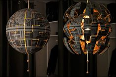 "Wow! This is so cool! Instructables user MariaK64 bought an IKEA PS 2014 pendant lamp and modified it so it could look like the Death Star. The ""Exploding"" feature comes already built-i…"