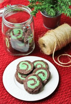 Andes Mint Swirl Cookies #recipe #cookies