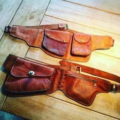 Leather belt bags. I use them when i go riding.