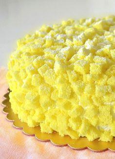 Torta Mimosa, ricetta originale per la Festa della Donna Torte Cake, Cake & Co, Italian Desserts, Mini Desserts, Sweet Recipes, Snack Recipes, Cooking Recipes, Pastry Cake, Spring Recipes