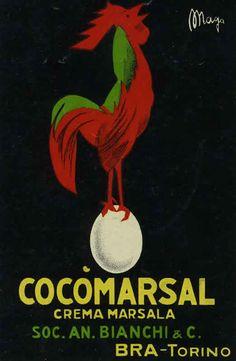 Cocomarsal - Crema Marsala Beverage Label by Magagnoli (Maga), Giuseppe 1910   #TuscanyAgriturismoGiratola