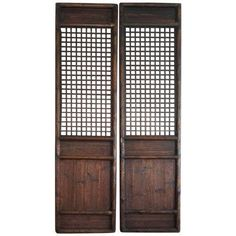Antique Chinese Doors/Screen Panels ($495) ❤ liked on Polyvore featuring home, home decor, panel screens, wooden home decor, handmade home decor, wooden window screens, wood window screens and wood panel screen