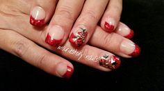 Christmas nails #poinsettia by @ mariestory nails