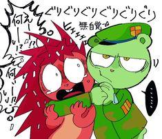 Happy Tree Friends Flippy, Happy Friends, Htf Anime, Anime Fnaf, Friend Cartoon, Friend Anime, Creepy Guy, Star Wars Comics, Fairy Tail Ships